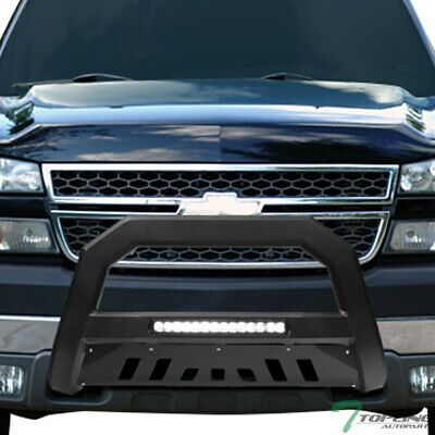 Sponsored Ebay Topline For 99 07 Silverado Sierra 2500 Avt Aluminum Led Bull Bar Matte Black In 2020 Bull Bar Chevy Silverado 2500 Silverado