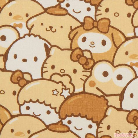 Sanrio Wallpaper, Matryoshka Doll, Kokeshi Dolls, Boutique Kawaii, Hello Kitty Characters, Hello Kitty Backgrounds, Hello Kitty My Melody, Yellow Theme, Project Life Cards