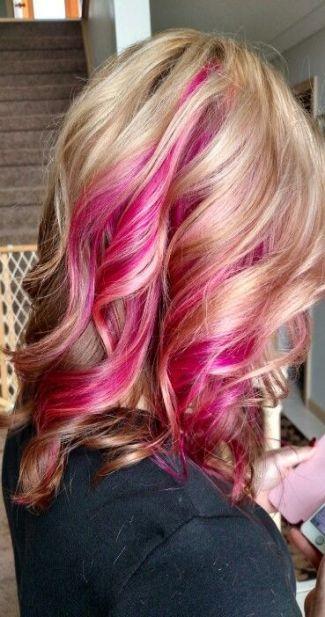 42 Super Ideas Hair Pink Peekaboo Haircuts Hair Pink Blonde