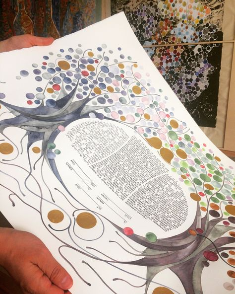 Collection Of Detailed Podcast Logos: Watercolortree Art: FOUR SEASONS KETUBAH Watercolor Art