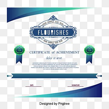 Green Certificate Template Png Free Download Vector Png Certificate Png Transparent Clipart Image And Psd File For Free Download In 2021 Certificate Design Template Green Certificate Certificate Templates
