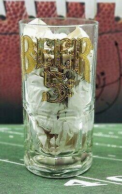 Details About Large Glass Beer Mug Stein Gold Label Beer 5c