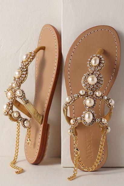 Mystique Gold Pearl Sandal Gold in