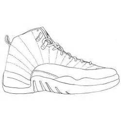 Jordan Shoes Coloring Pages Printable Air Jordan 12 Drawing Jordan Coloring Book Coloring Pages Jordan Logo