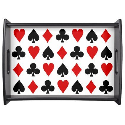 Original Playing Cards Diamond Club Heart Spade Serving Tray