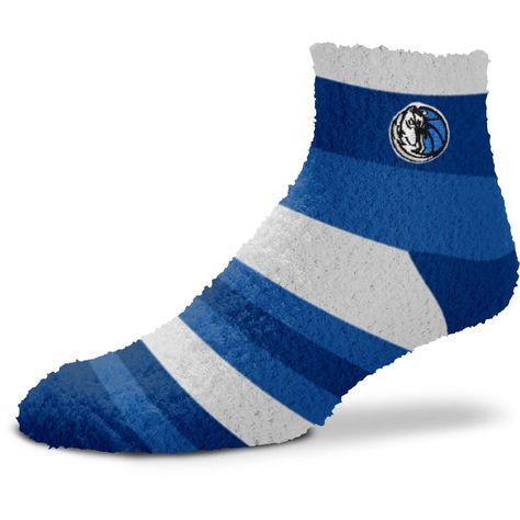 Women's For Bare Feet Dallas Mavericks Rainbow Fuzzy Quarter-Length Socks