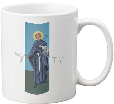 St. Maximilian Kolbe by R. Lentz   Catholic Christian Religious Art - Coffee-Tea Mug (11oz) - From your Trinity Stores crew.