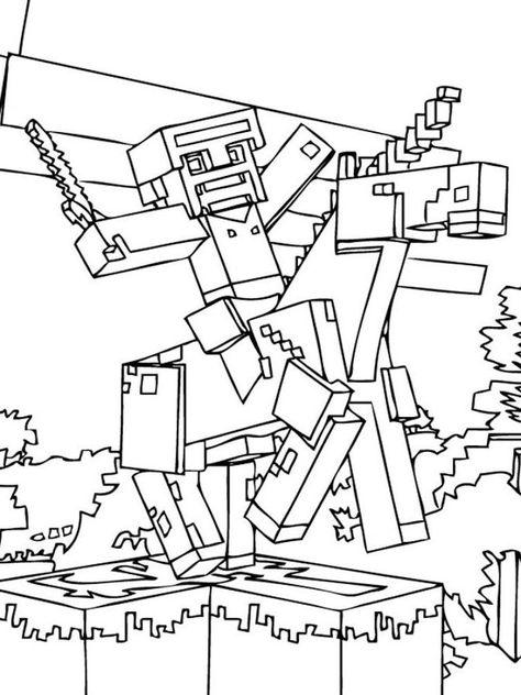 25 best ausmalbilder minecraft images  minecraft coloring