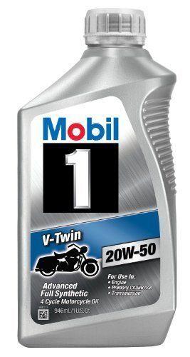 Mobil 1 20w 50 V Twin Full Synthetic Motocycle Motor Oil 1 Quart Pack Of 6 New Mobil1 Synthetic Oil Motor Oil Oils