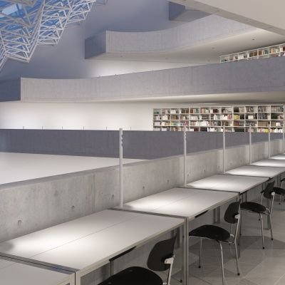 The lucy from erco lighting provides a sleek and slender aesthetic for modern workplaces