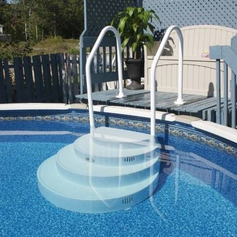 above ground pool stairs new pool pinterest ground pools backyard and decking - Above Ground Pool Steps