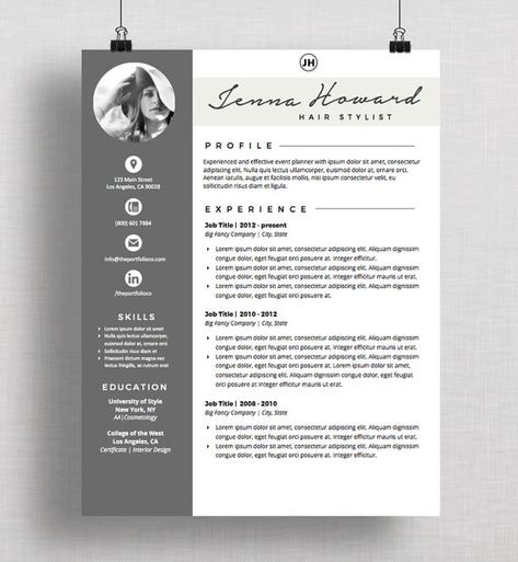 10 Eye-Catching Graphic Designer Resumes Buzo y Folletos - hair stylist cover letter