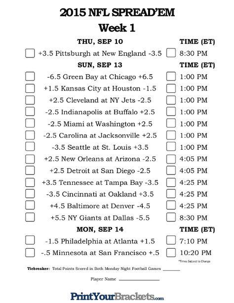 graphic regarding Nfl Week 12 Printable Schedule identify Pinterest