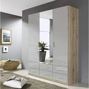 Stuttgart 3 Door Wardrobe Rauch Colour Body Front Sanremo Oak Silk Grey Size H197 X 3 Door Sliding Wardrobe Wardrobe Design Bedroom Bedroom Furniture Sets
