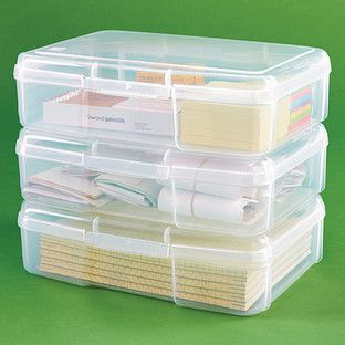 Storage Rectangle Clear Container Small Parts Craft Findings for Home Supply