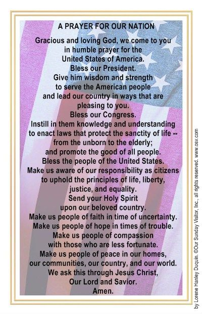 A Prayer for 40 days, starting on 4/28/2015, for our Nation, our States, and our Leaders.