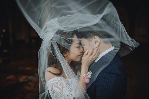 New York City, NYC wedding   Brooklyn wedding   New York City, NYC elopement   Brooklyn elopement   Bride and groom portraits   Veil shot   #newyorkwedding #nycwedding #brideandgroomportraits