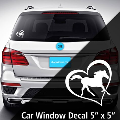 decals Horse Heart Car Decal from...