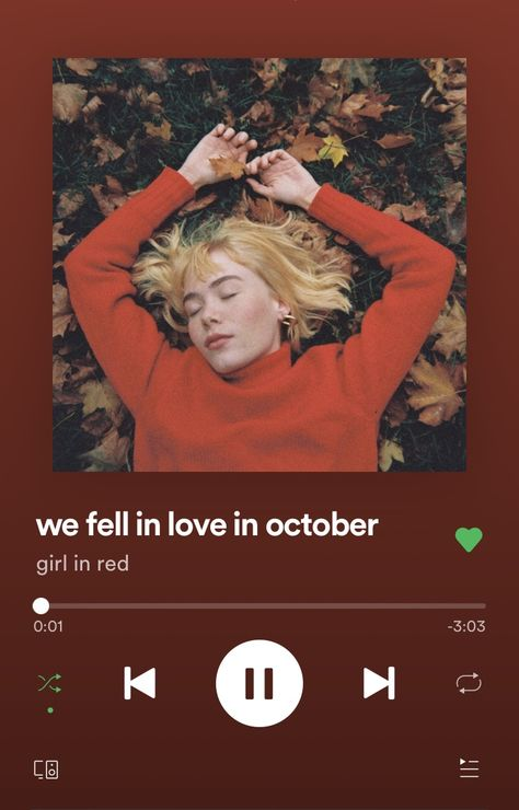 ✰ we fell in love in october ✰ By: girl in red