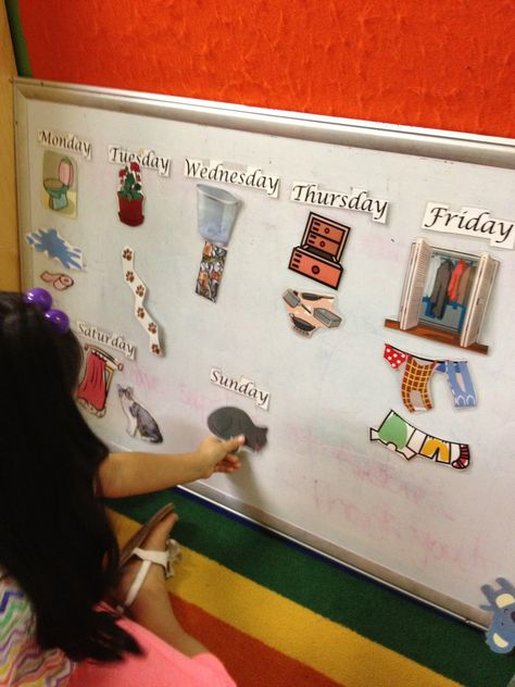"""Magnetic pieces for students to retell the story """"Cookie's Week"""""""