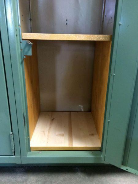Making Wooden Locker Shelves In 2019 Wooden Lockers