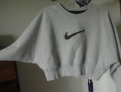 Vintage Nike Cropped Batwing Arms Sweatshirt Sz Small | eBay