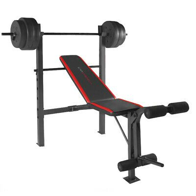 Weight Bench With Bar And Weights 100 Lb Lift Set Weightlifting Exercise Press Weight Benches Weight Bench Set Weight Set