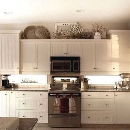 30 Ways To Decorate Above Kitchen Cabinets 30 Above Cabinets Decorate Kitc Decorating Above Kitchen Cabinets Kitchen Cabinets Decor Above Kitchen Cabinets