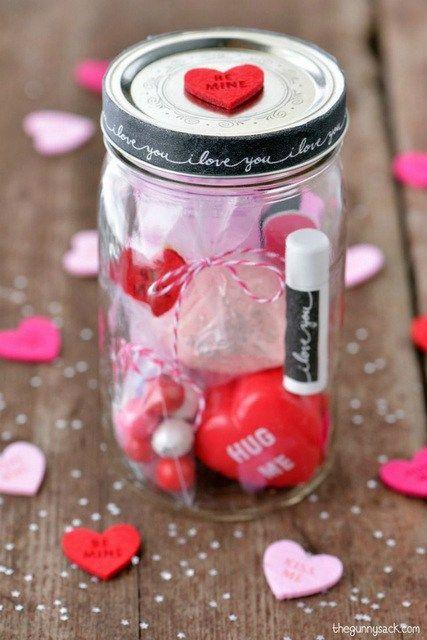 La St Valentin En Pots Masson Cadeaux Mason Jars Valentines