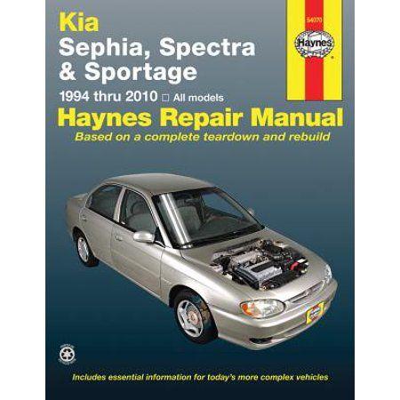 Kia Sephia Spectra Sportage Covering Sephia 94 01 Spectra 00 09 Sportage 05 10 Haynes Repair Manual Walmart Com Repair Manuals Automotive Repair Repair