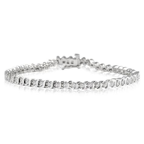 1 Carat Diamond Tennis Bracelet In 925 Sterling Silver 119 Free Shipping 1 00 Carat Genuine Diamond S Link Tennis B Buy Bracelets Amazing Jewelry Diamond