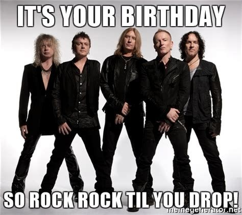 Image Result For Def Leppard Happy Birthday Graphics Def Leppard Quotes Def Leppard Rock Meme