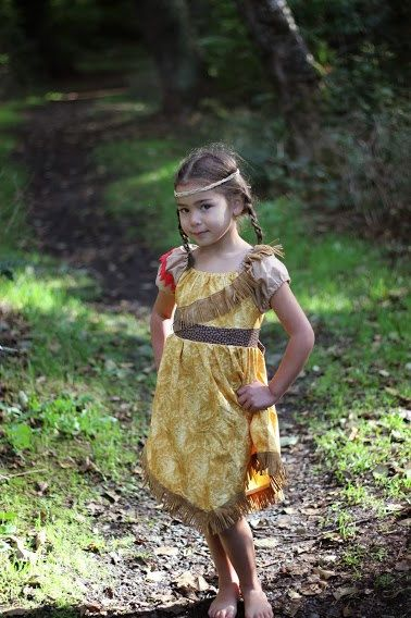 Pocohontas Inspired Play Dress sizes 3T8 by darlingcharlotte