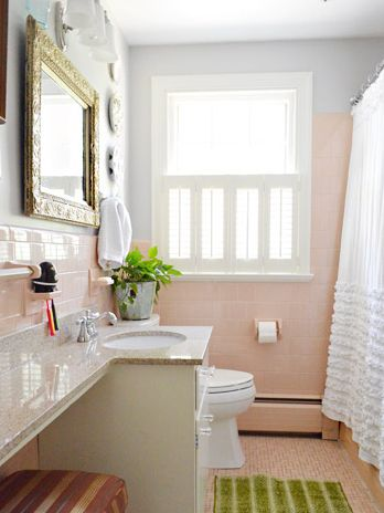 In Defense of Pink Bathrooms: Why You Should Think Before ... on retro bathrooms, pinterest bathrooms, 40 s style bathrooms, country bathrooms, modern white bathrooms, 1960s bathrooms, gray and white bathrooms, early 20th century bathrooms, gray marble bathrooms, rustic bathrooms, hgtv bathroom makeover ideas, bathroom makeovers for small bathrooms,