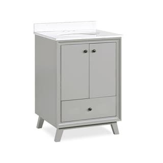 Avenue Greene Pavlo 24 Inch Bathroom Vanity White 24 Inch In 2020 Granite Vanity Tops Grey Bathroom Vanity Single Bathroom Vanity