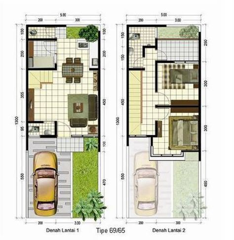 gambar denah rumah minimalis 2 lantai | minimalist house