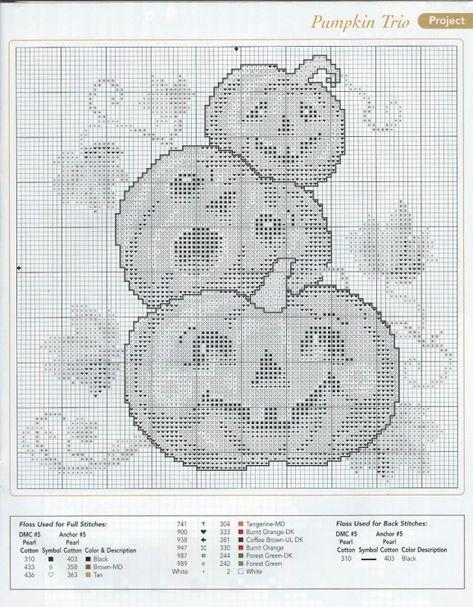 Victorian Halloween #20 Witch Moon Pumpkin Counted Cross Stitch Chart Pattern