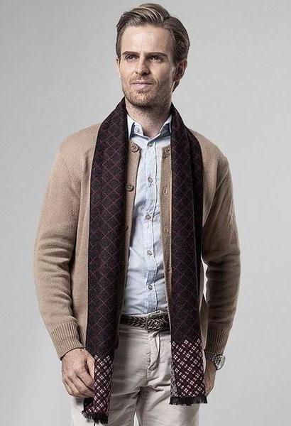 Plaid Scarf Man Winter Warm Scarf Men Silk Cashmere Shawl Business Casual Scarves