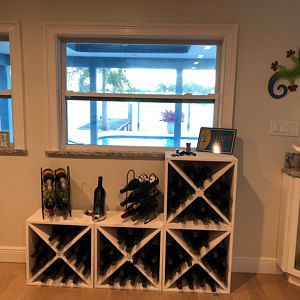 12 Bottle Wood Wine Rack With Legs Counter Top Model Natural Or Espresso 16 75 X 15 X 8 75 In 2020 Wood Wine Racks Wine Rack Stemware Holder