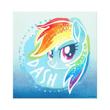 My Little Pony Rainbow Dash Watercolor Canvas Print Zazzle Com