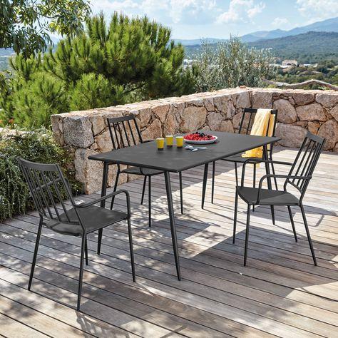 Coin repas | terrasse | Table de jardin, Fauteuil jardin et ...