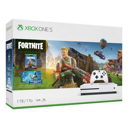 Microsoft Xbox One S 1tb Fortnite Bundle White 234 00703 Xbox One S 1tb Xbox One S Fortnite