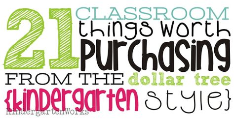 KindergartenWorks: 21 classroom things worth purchasing from the dollar tree