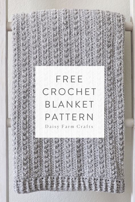 Free Crochet Blanket Pattern - Velvet Berries Throw <br> I've loved working with Bernat Velvet yarn ever since it came out last year, but I was really excited when… Crochet Throw Pattern, Afghan Crochet Patterns, Baby Blanket Crochet, Crochet Stitches, Crochet Blankets, Crocheted Baby Afghans, Crochet For Beginners Blanket, Baby Blankets, Easy Knitting Projects