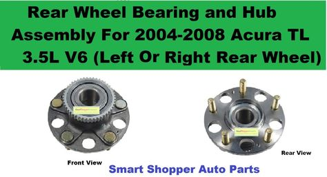 REAR WHEEL HUB BEARING ASSEMBLY 2004-2008 ACURA TSX-LEFT OR RIGHT