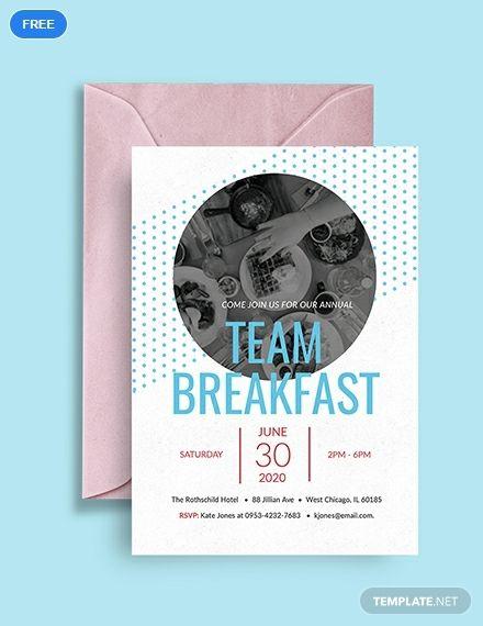 Free Team Breakfast Invitation