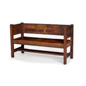 Remarkable Gustav Stickley Early Hall Bench 172 Home Decor Hall Lamtechconsult Wood Chair Design Ideas Lamtechconsultcom