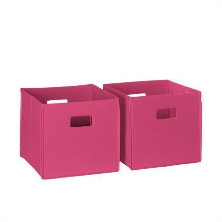 Riverridge 2 Pc Folding Storage Bin Set Hot Pink Storage Bins
