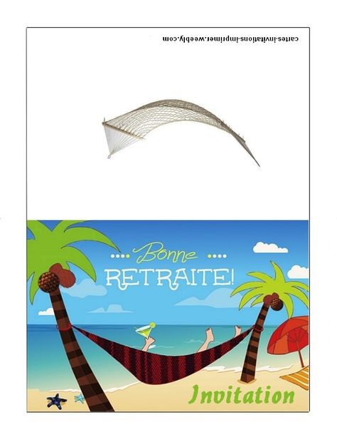 Carte Invitation Retraite Imprimer Gratuite Cartes D