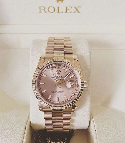 Elegant ladies watches rose gold Dusty rose and gold Rolex for women